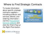 where to find strategic contracts