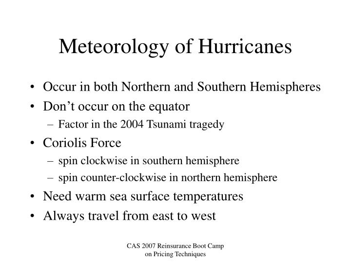 Meteorology of Hurricanes