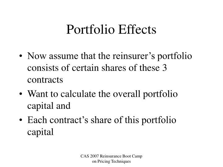 Portfolio Effects