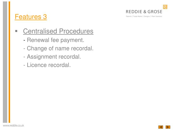 Centralised Procedures