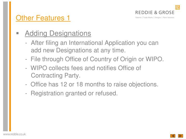 Adding Designations