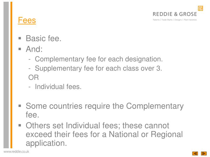 Basic fee.