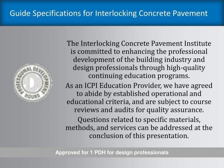 Guide specifications for interlocking concrete pavement2