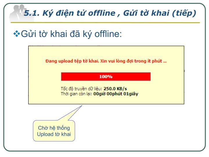 5.1. Ký điện tử offline , Gửi tờ khai (tiếp)