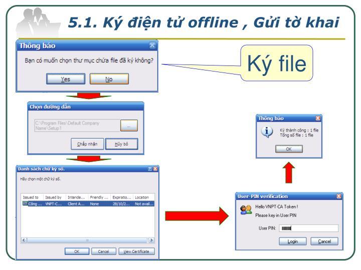 5.1. Ký điện tử offline , Gửi tờ khai
