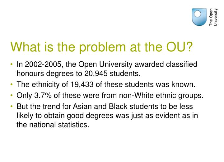 What is the problem at the OU?