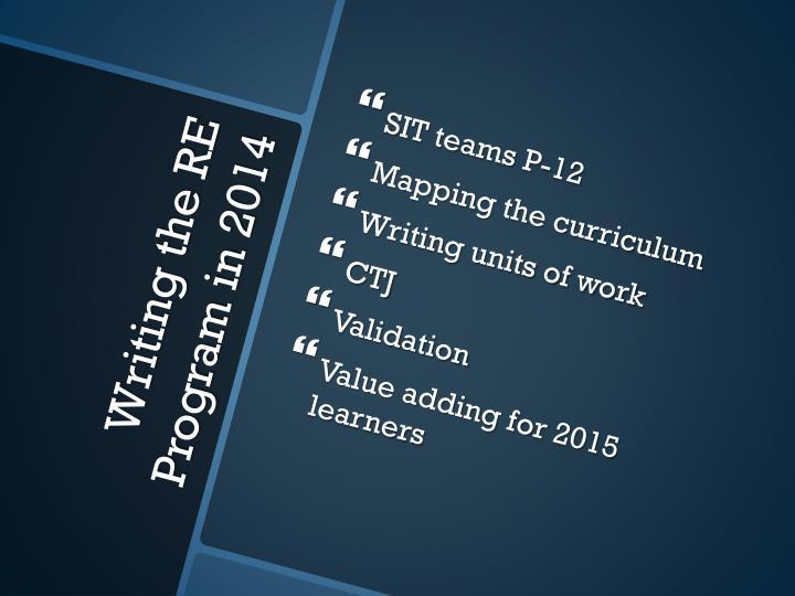 SIT teams P-12