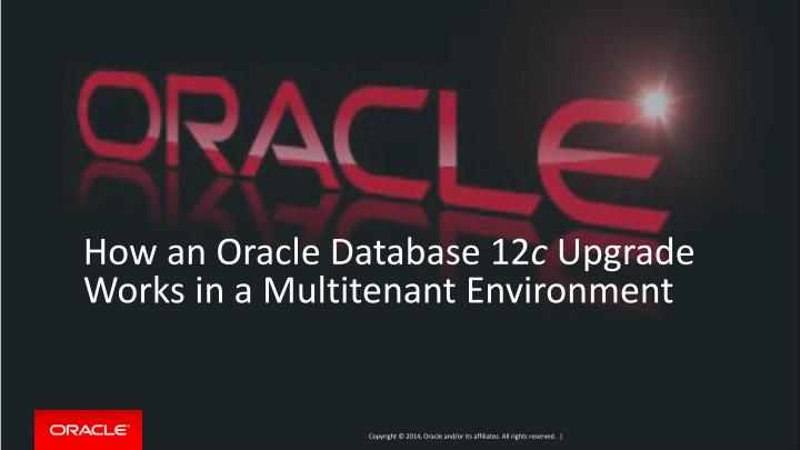 How an Oracle Database 12