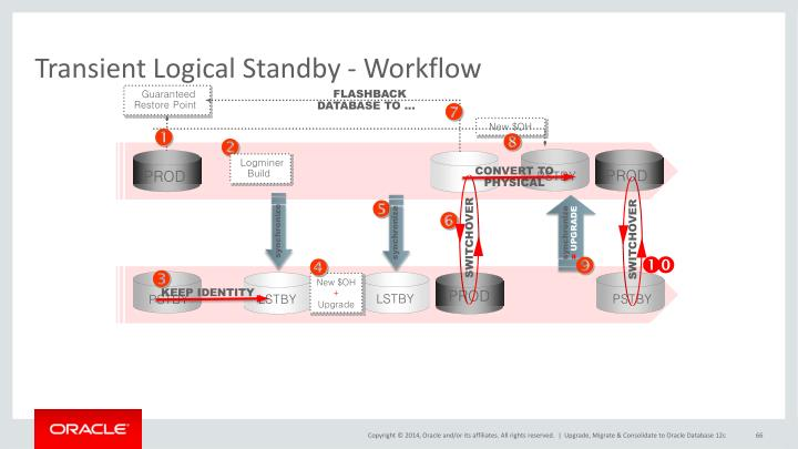 Transient Logical Standby - Workflow