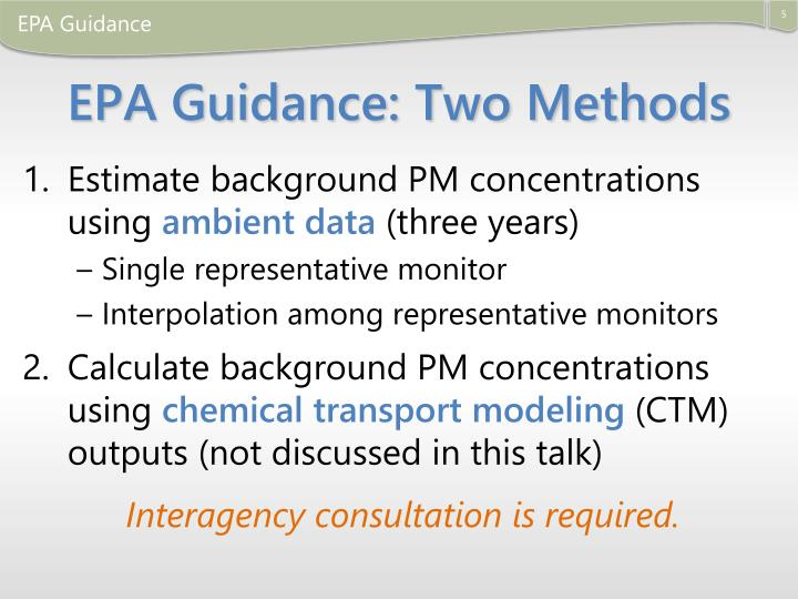 EPA Guidance