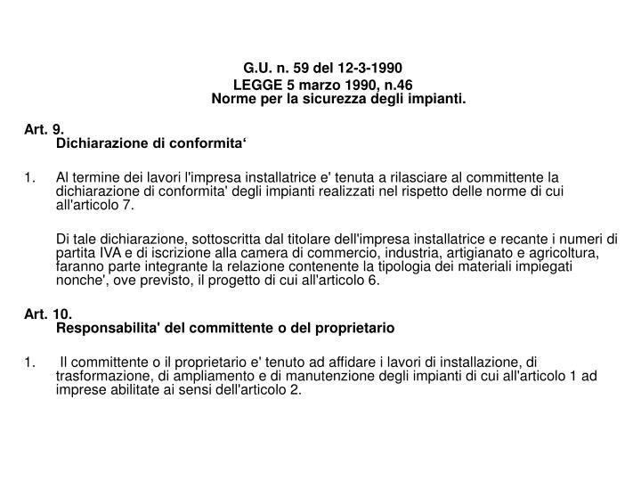 G.U. n. 59 del 12-3-1990