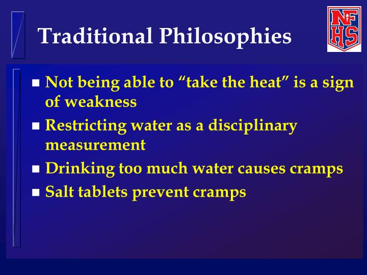 Traditional philosophies