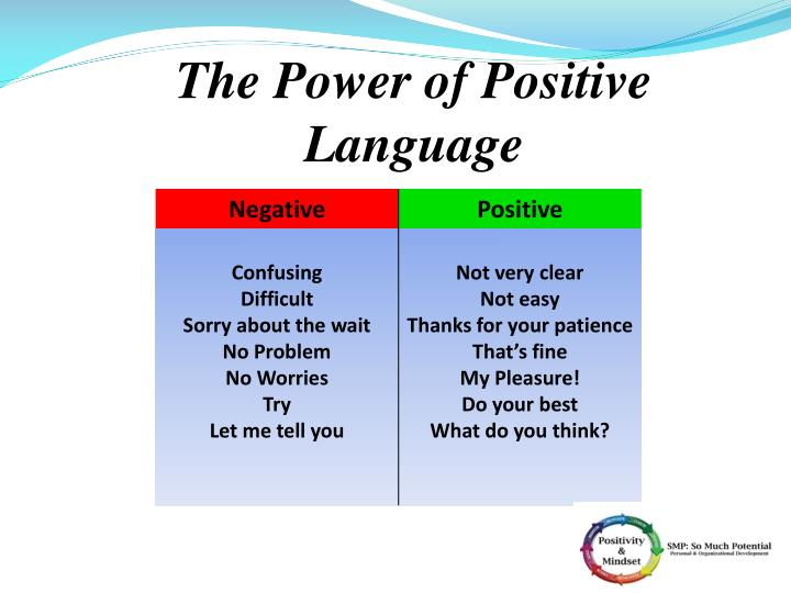The Power of Positive Language