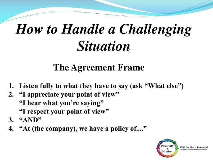 How to Handle a Challenging Situation