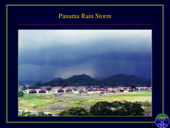Panama Rain Storm