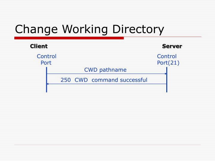 Change Working Directory