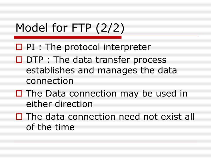 Model for FTP (2/2)