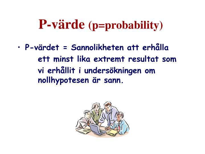 P-värde