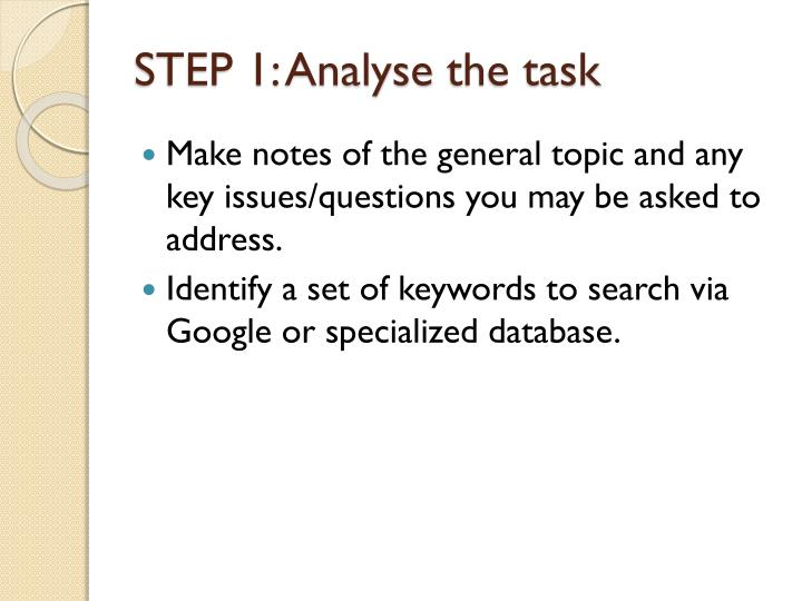 specialized database presentation