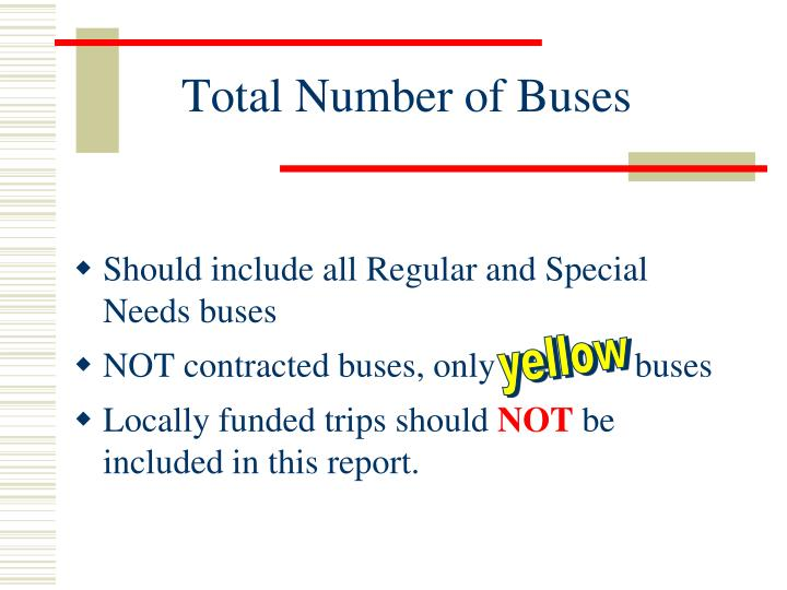 Total Number of Buses
