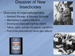 discover of new insecticides