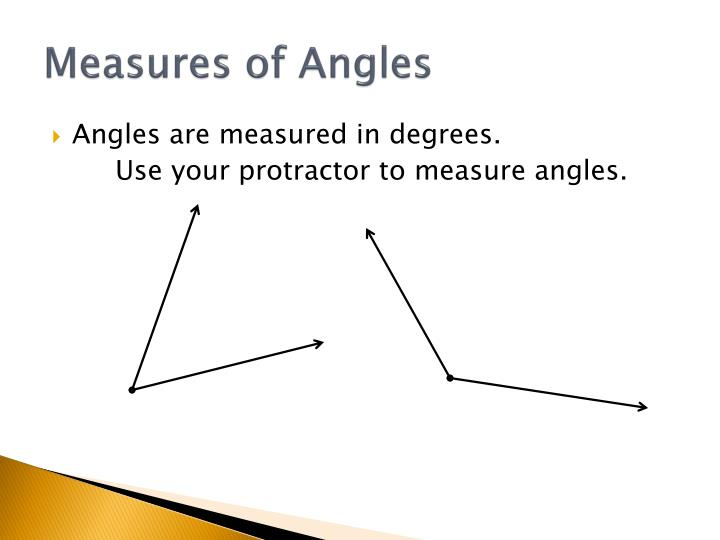 Measures of Angles