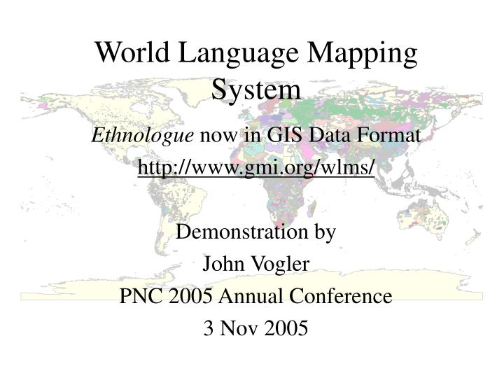World language mapping system