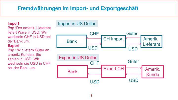 Fremdwährungen im Import- und Exportgeschäft