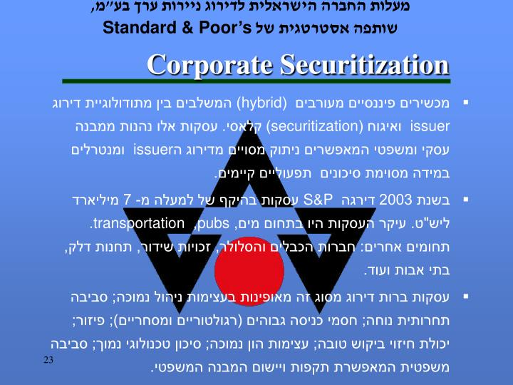 Corporate Securitization
