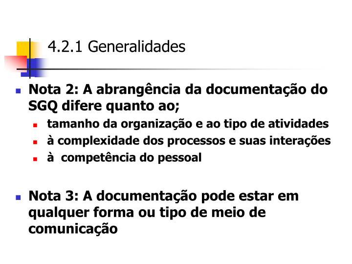 4.2.1 Generalidades