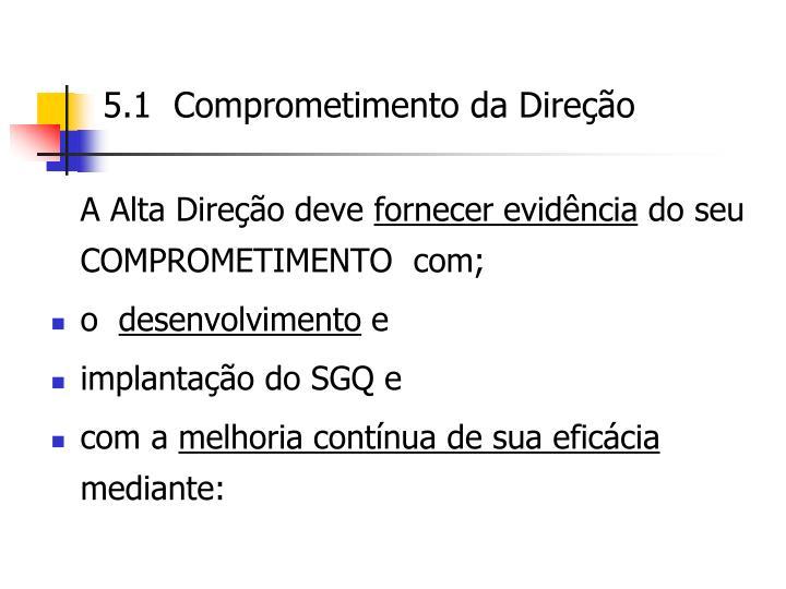 5.1  Comprometimento da Direção