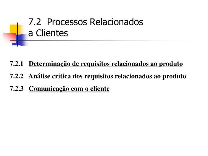 7.2  Processos Relacionados