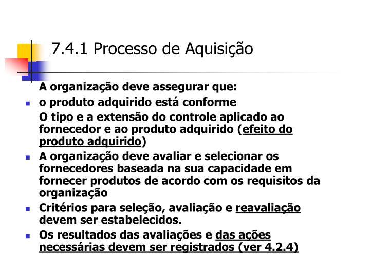 7.4.1 Processo de Aquisição