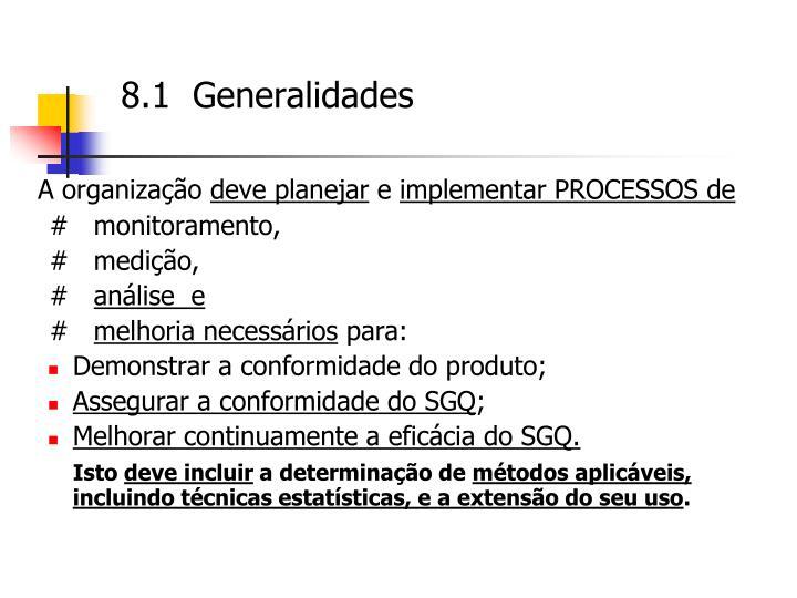 8.1  Generalidades