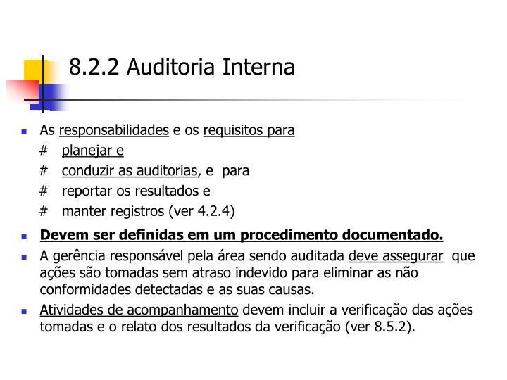 8.2.2 Auditoria Interna