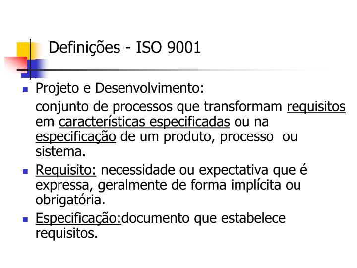 Definições - ISO 9001