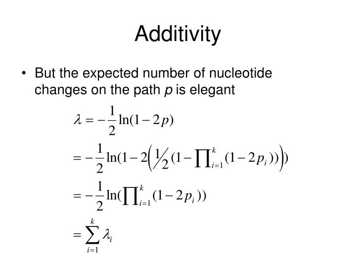 Additivity