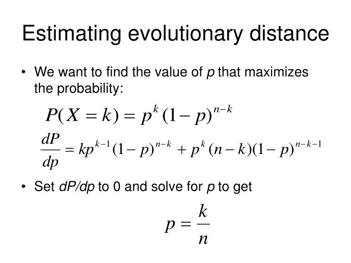 Estimating evolutionary distance