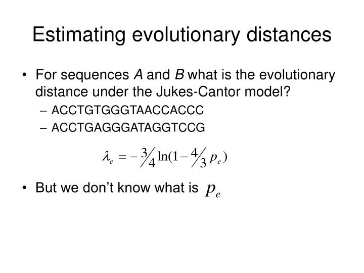 Estimating evolutionary distances