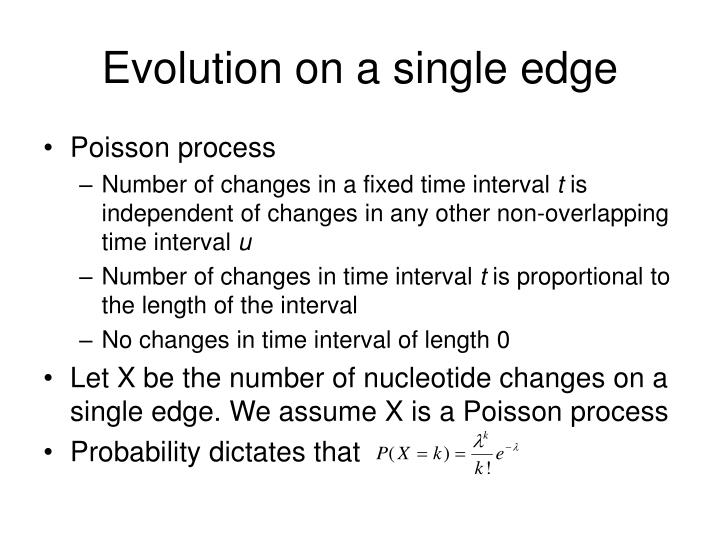 Evolution on a single edge
