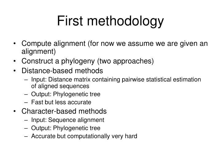 First methodology