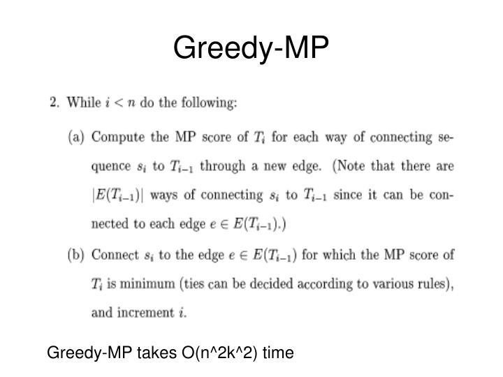 Greedy-MP