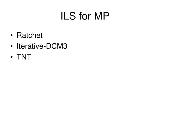 ILS for MP