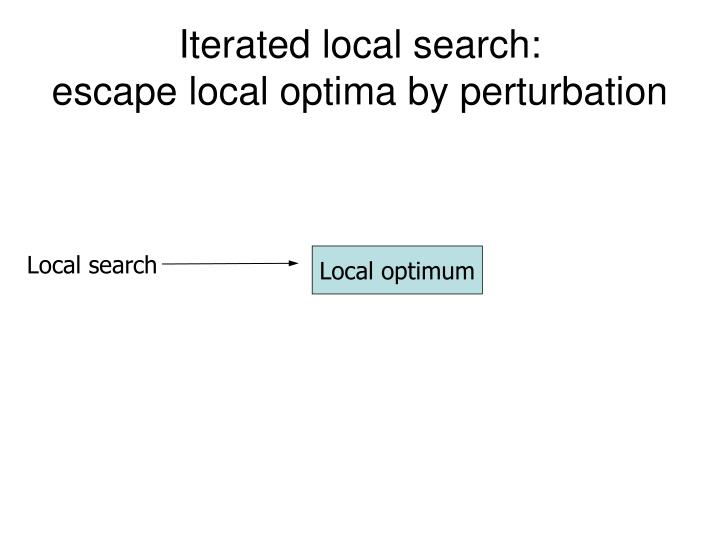 Iterated local search: