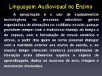 linguagem audiovisual no ensino