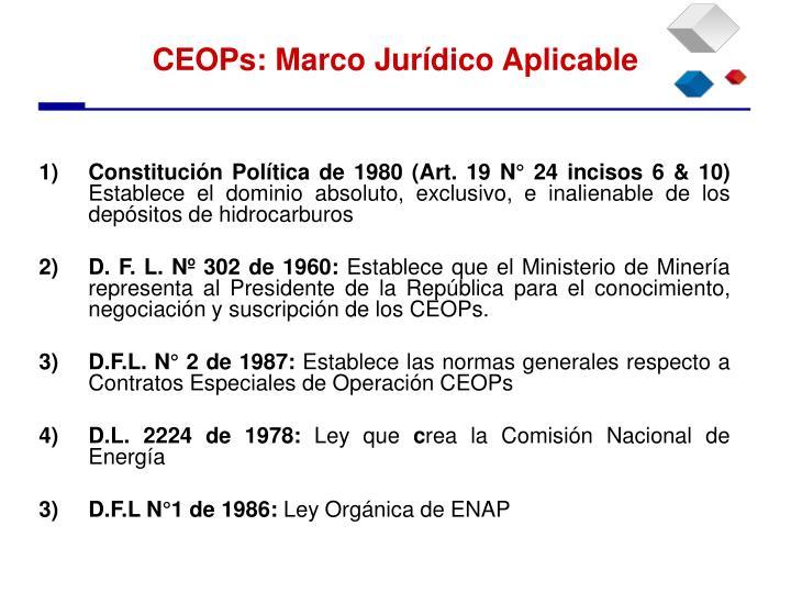 Constitución Política de 1980 (Art. 19 N° 24 incisos 6 & 10)