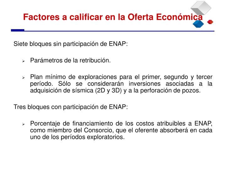 Siete bloques sin participación de ENAP: