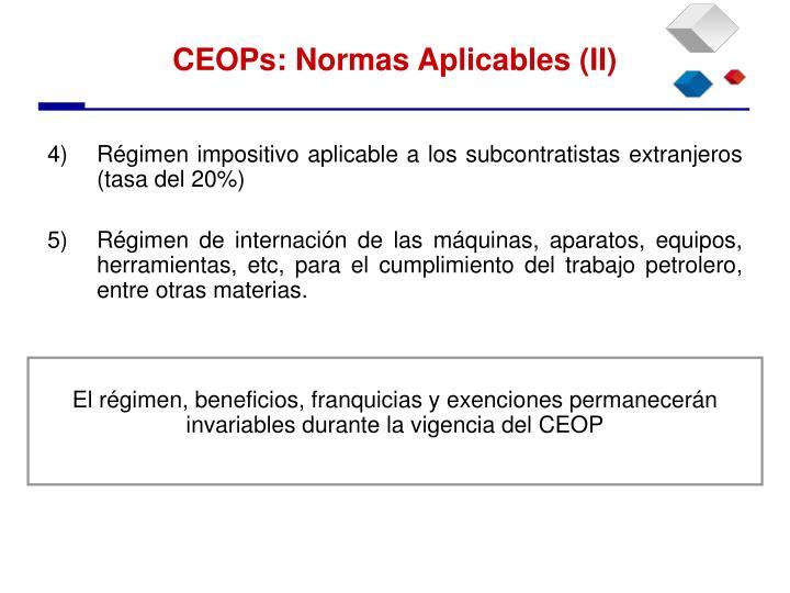 Régimen impositivo aplicable a los subcontratistas extranjeros (tasa del 20%)
