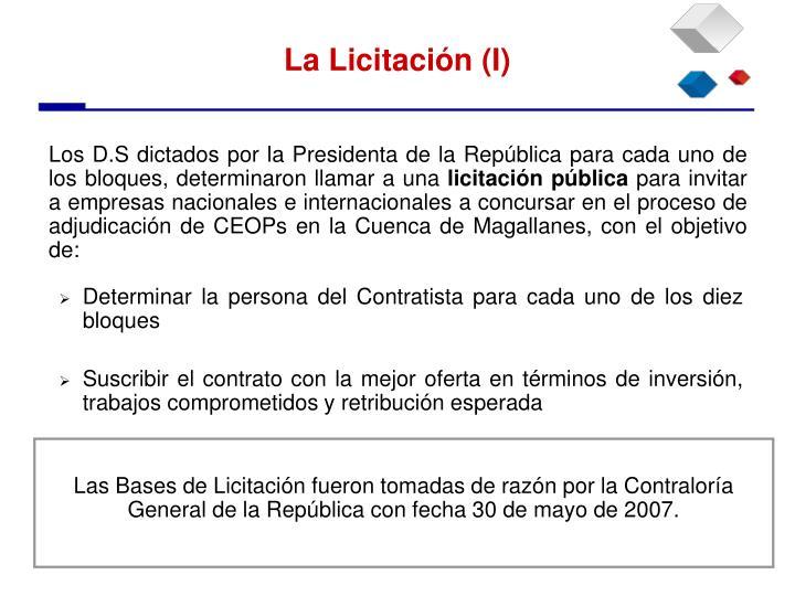 Los D.S dictados por la Presidenta de la República para cada uno de los bloques, determinaron llamar a una