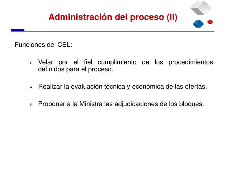 Funciones del CEL: